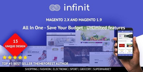 Infinit Magento template