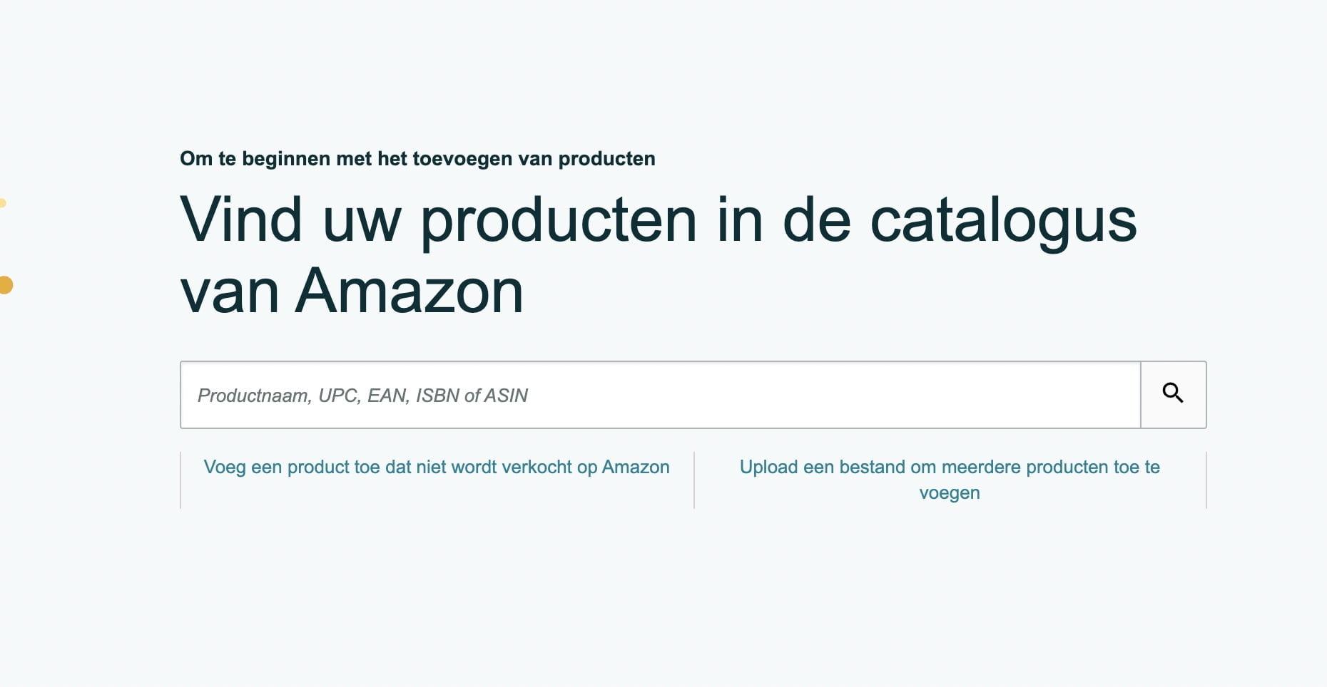Producten catalogus Amazon
