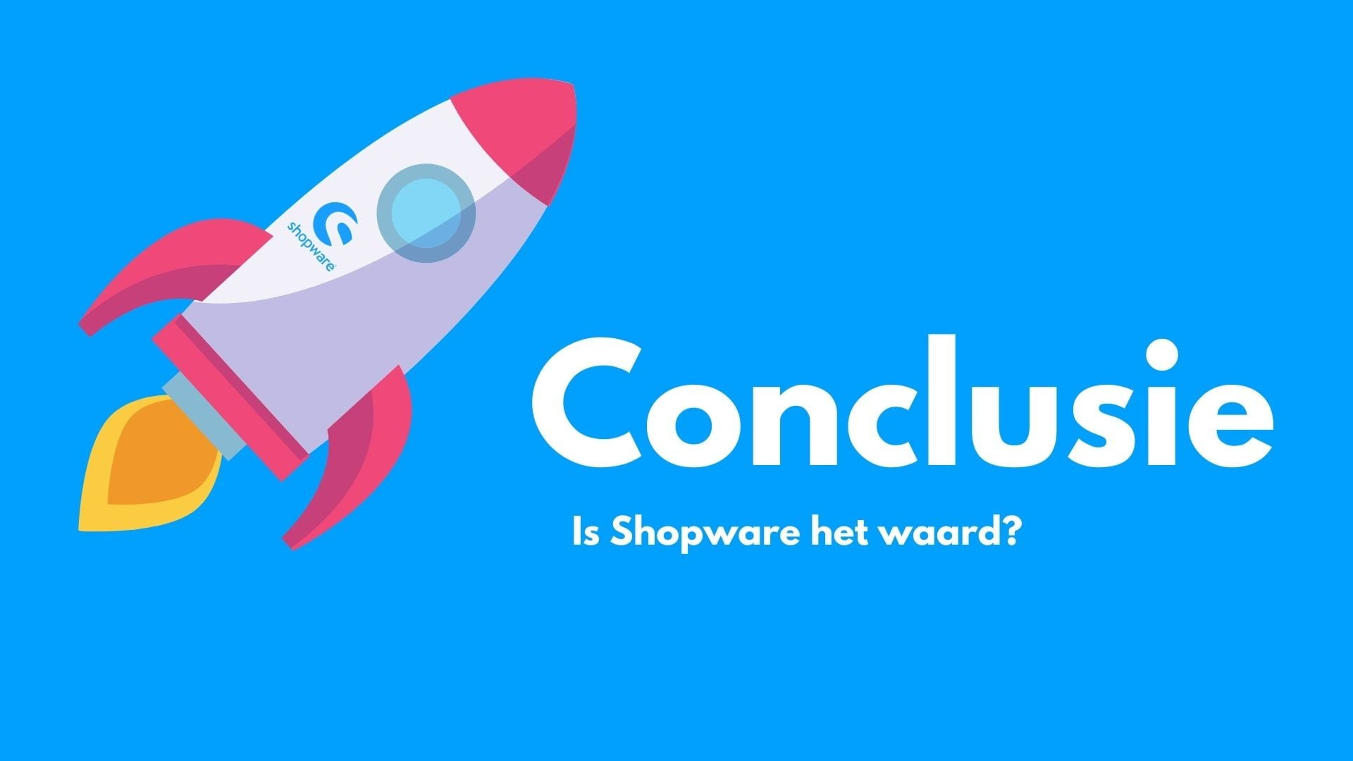 Shopware conclusie