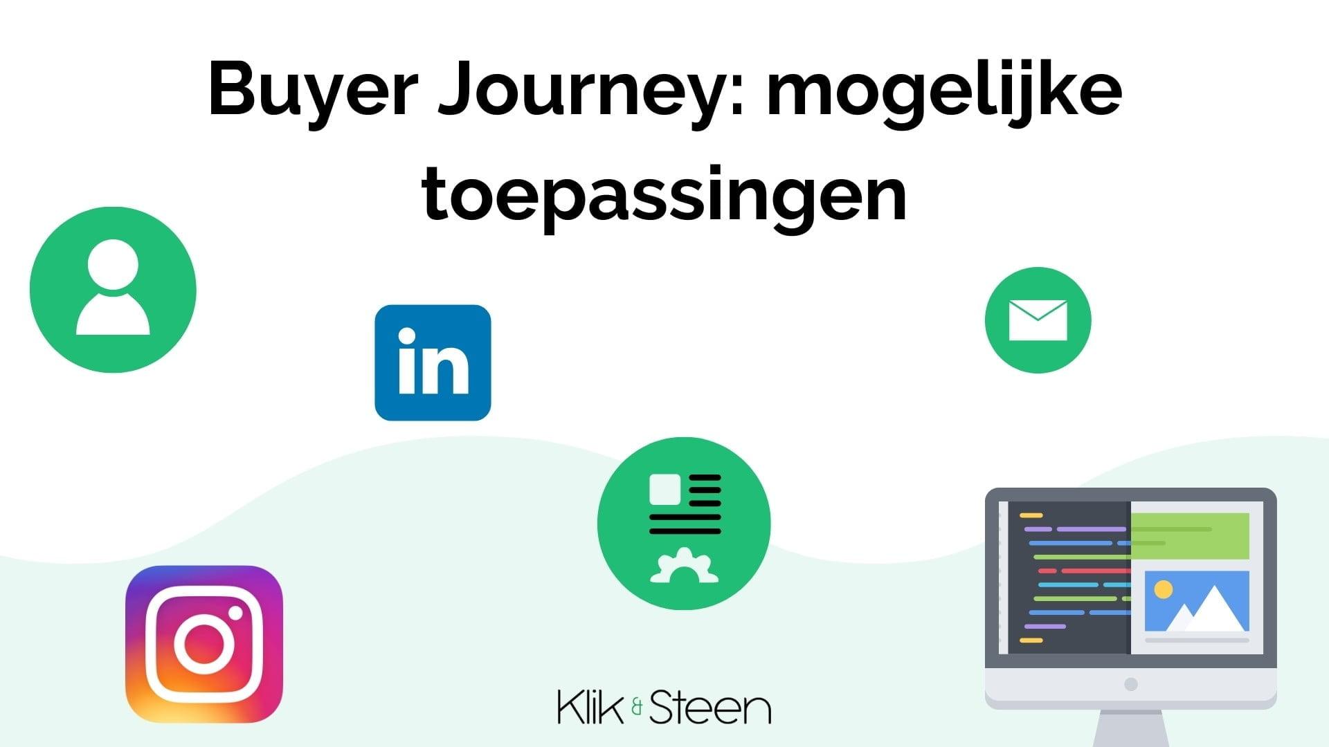 buyer journey toepassingen
