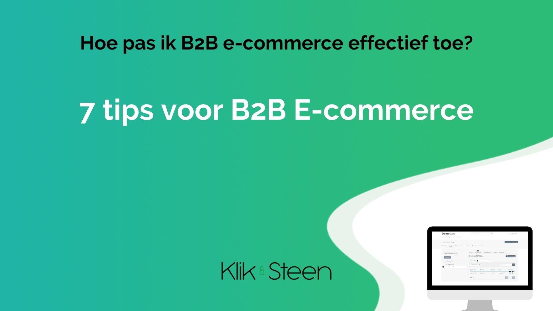 b2b ecommerce 7 tips