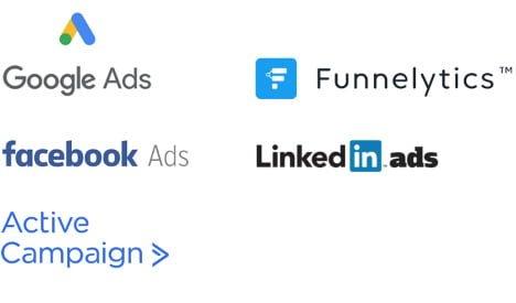 Online marketing logo's