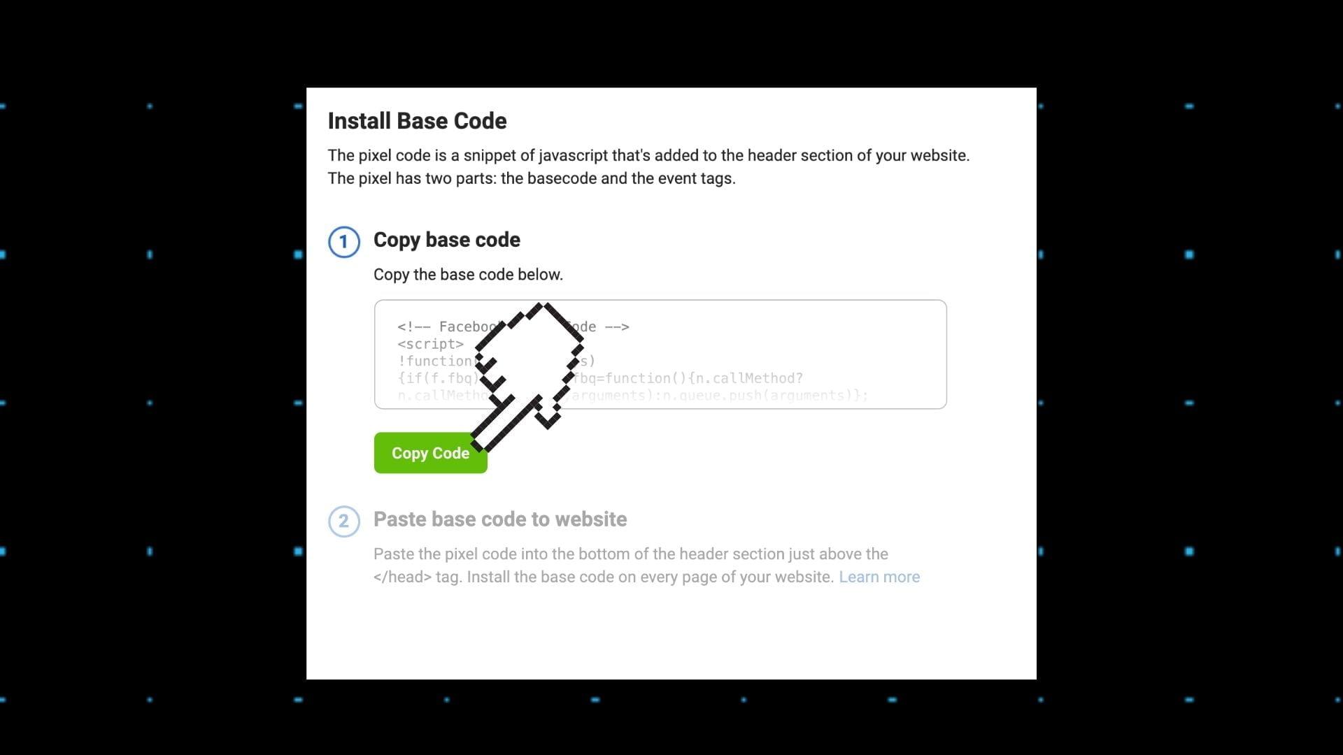 copy pixel code