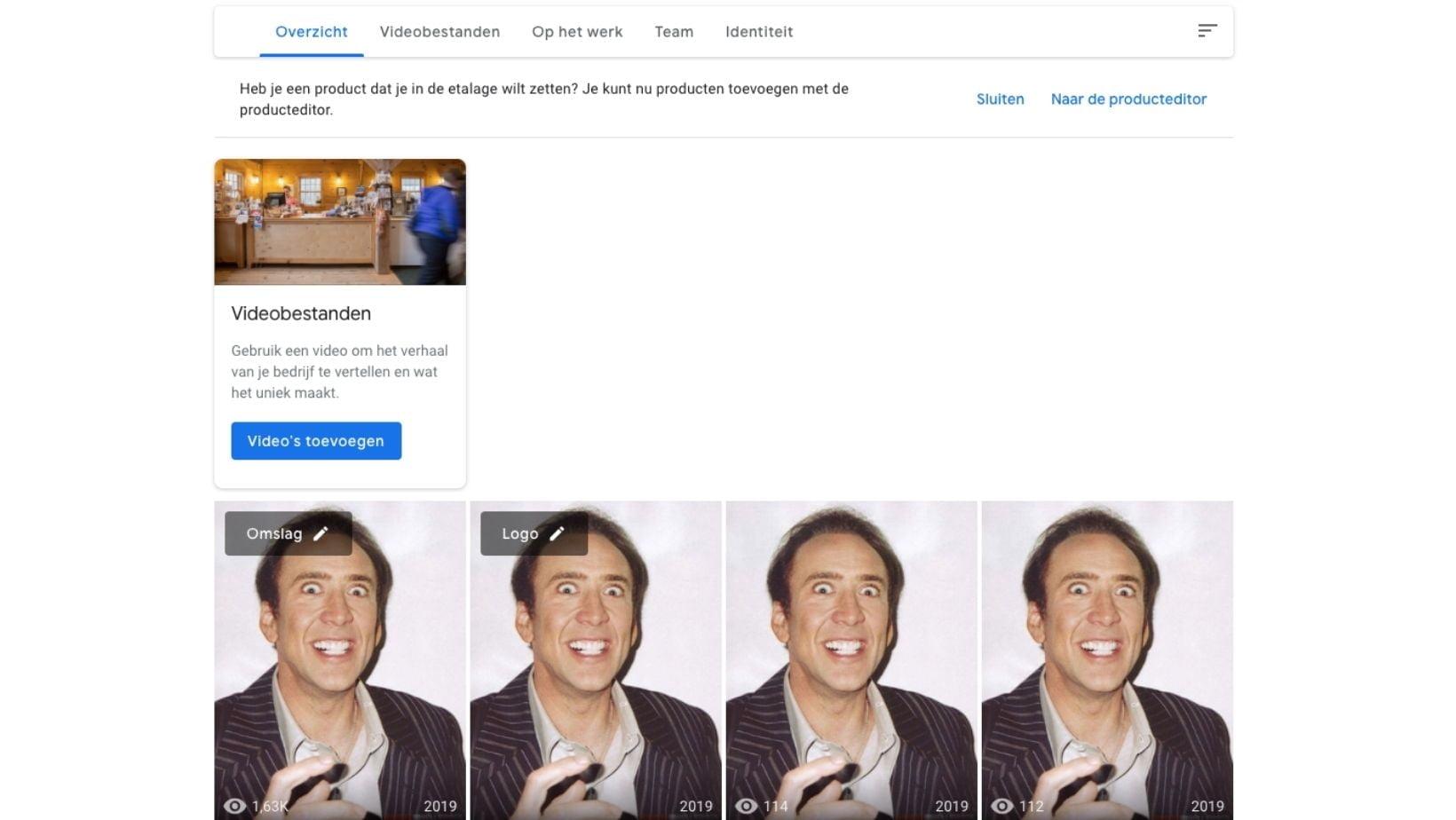 Google mijn bedrijf fotos